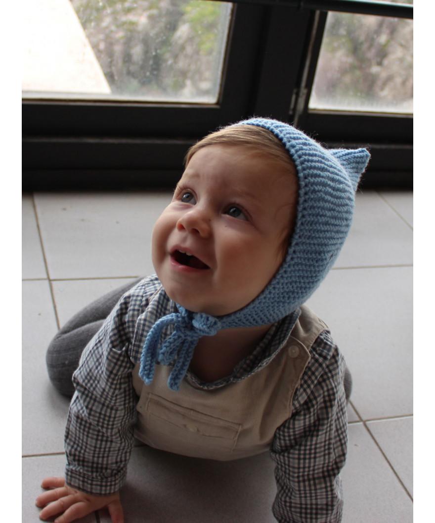 2589768659919 Gorro de lana para bebé realizado con 1 ovillo de Merino 100% de lanas  Katia
