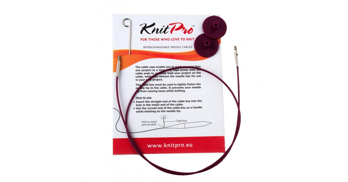 Cable para agujas circulares intercambiables Knitpro rosa oscuro