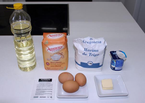 Ingredientes del bizcocho de yogur