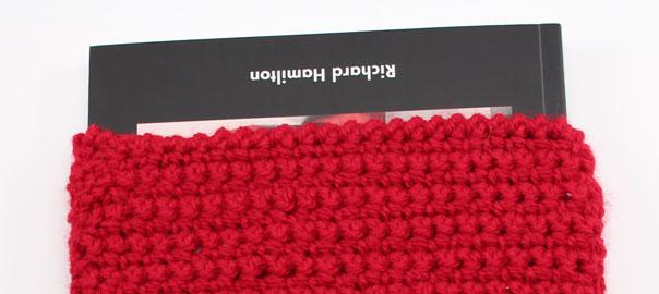 Funda de lana para libro