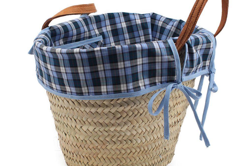 Decorar una cesta con tela