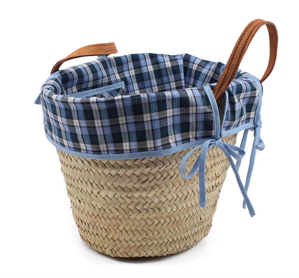 Decorar una cesta con tela costurea blog for Fabrica de canastas de mimbre