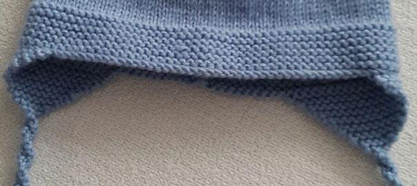 Gorro de lana tipo aviador para niño