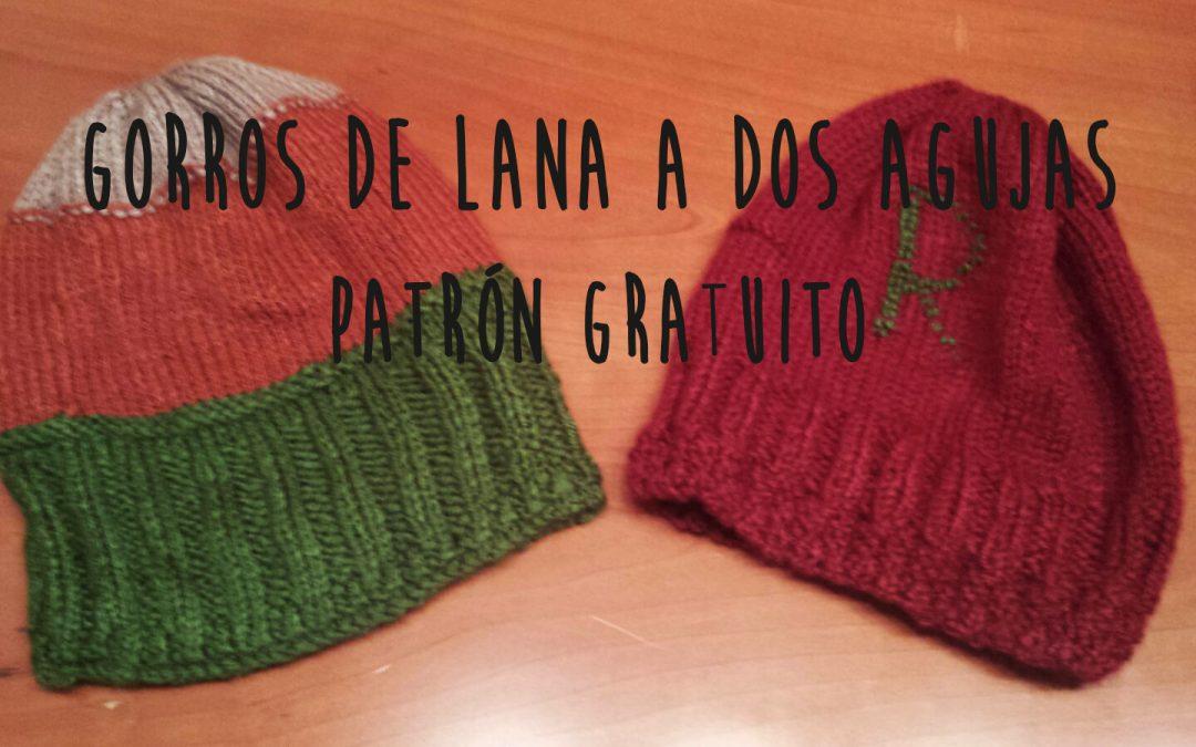 Gorros de lana para tejer con dos agujas, patrón gratuito.