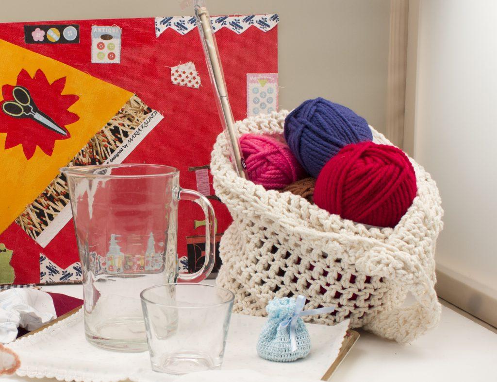 Bolsas de lana como regalos DIY de navidad