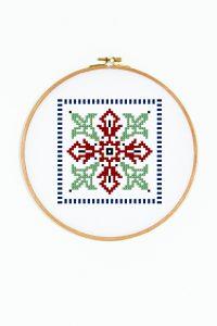 Diagrama para bordar Azulejo griego