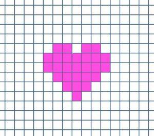 Cuadricula corazon para bordar regalo diy