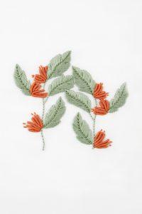 Diagrama paraDiagrama para bordar Flor tropical bordar helecho-y-acacia