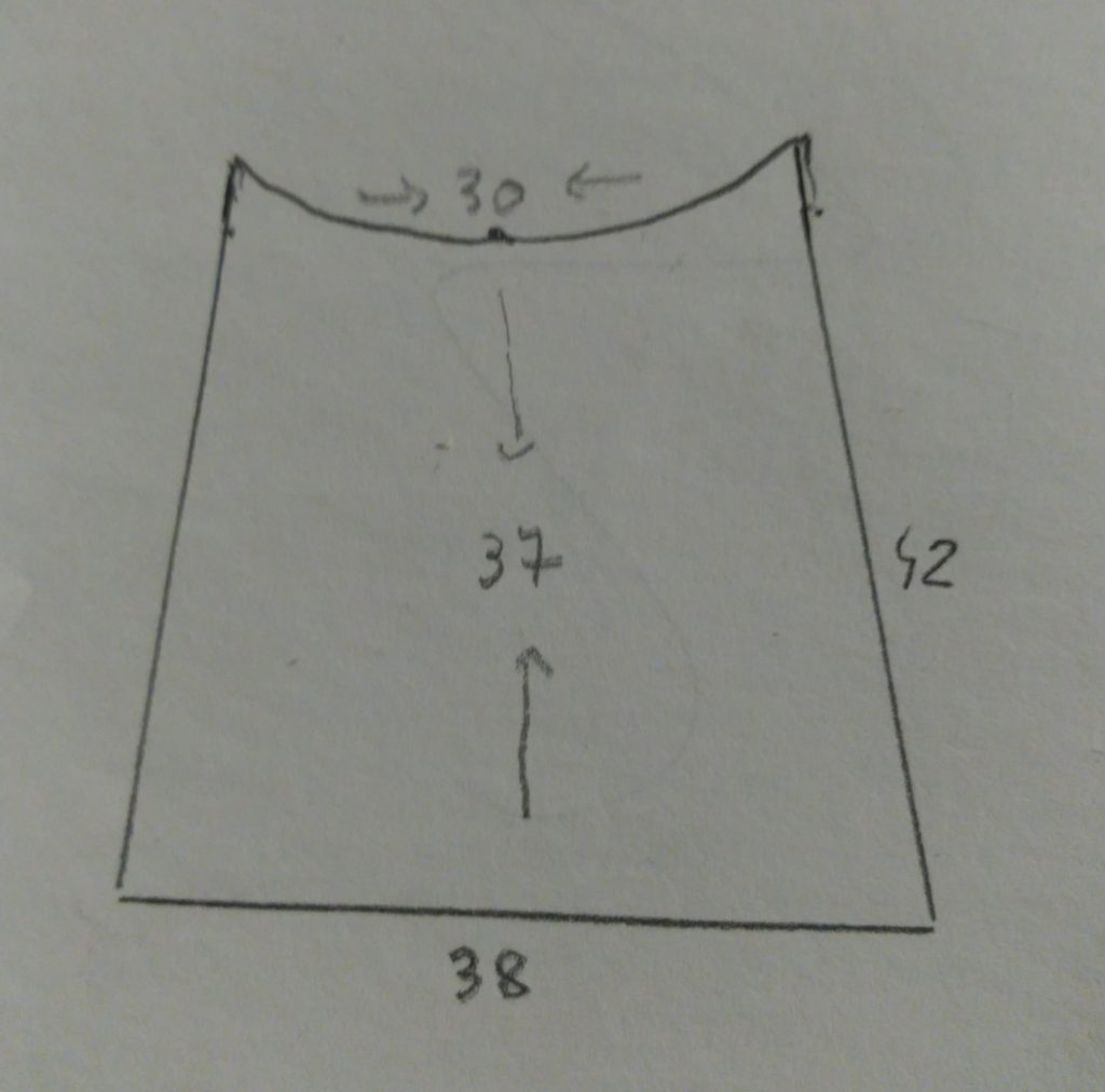 diagrama para cortar las telas infantiles