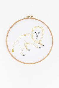 Diagrma para bordar símobolo leo