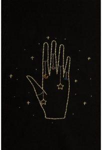 Diagrama para bordar mano de la fortuna