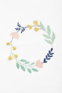 Diagrama para bordar ofrenda floral