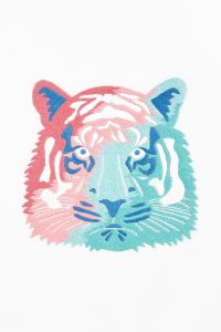 Diagrama para bordar tigre
