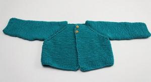 remate para prendas de bebé chaqueta verde