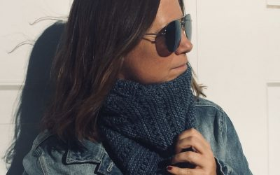 Patrón para tejer cuello con dos agujas y lana malabrigo